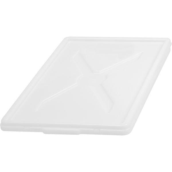 Deckel für Stapelkiste Kunststoff - weiß - 600x400