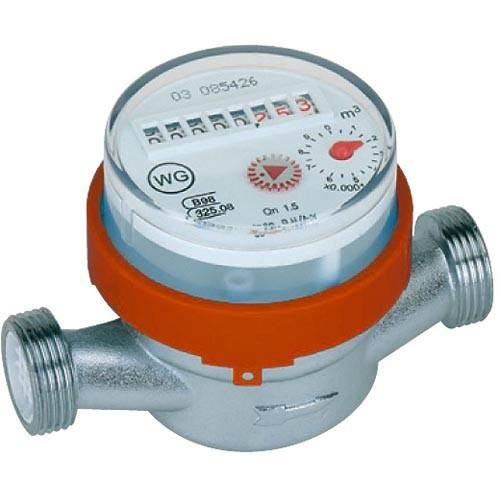 Warmwasserzähler geeicht DN15 - 1,5 m³/h - 80 mm