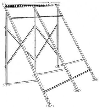 Montagegestell für freie Aufstellung / Flachdach / Anhebung