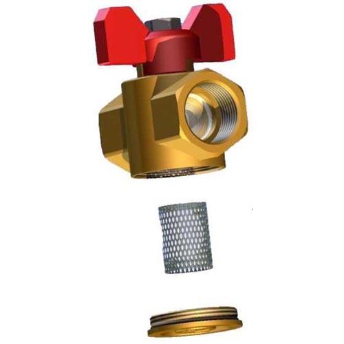 Filter Kugelhahn mit Filter aus Nirosta - IGxIG