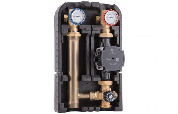 Barberi Pumpengruppe 02G.DN25 mit Thermostatmischer / mit Bypass