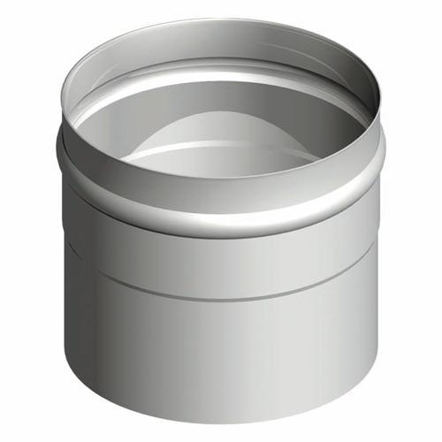 Kesselanschluss einsteckend - Edelstahlkamin