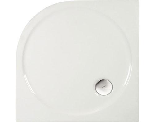 Duschwanne R55 80x80x4 - Viertelkreis aus Acryl