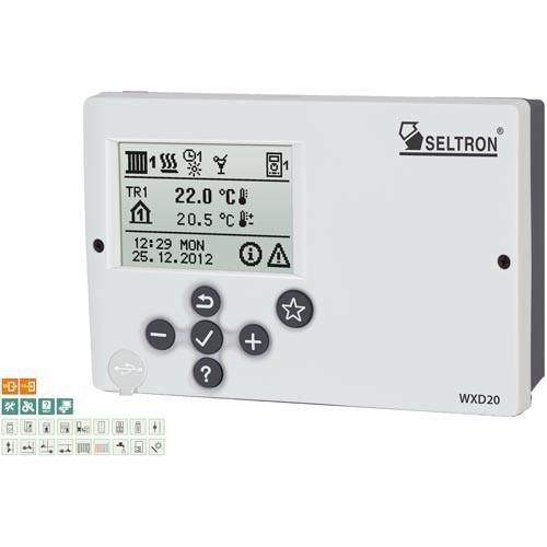 Seltron Promatic WXD20 Heizungsregler im Set mit Fühlern