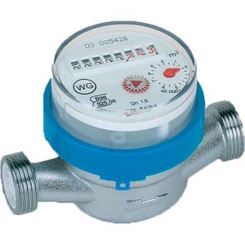 Kaltwasserzähler geeicht DN15 - 2,5 m³/h - 80 mm
