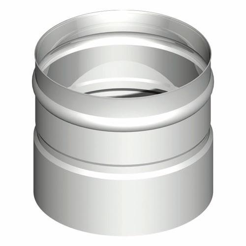 Kesselanschluss übersteckend - Edelstahlkamin