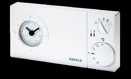 Eberle Uhren-Raumthermostat easy 3 sw - mit Wochenschaltuhr
