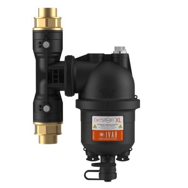 IVAR DIRTSTOP XL - Schlammabschneider - Magnetfilter mit Absperrventil und Verschraubungen