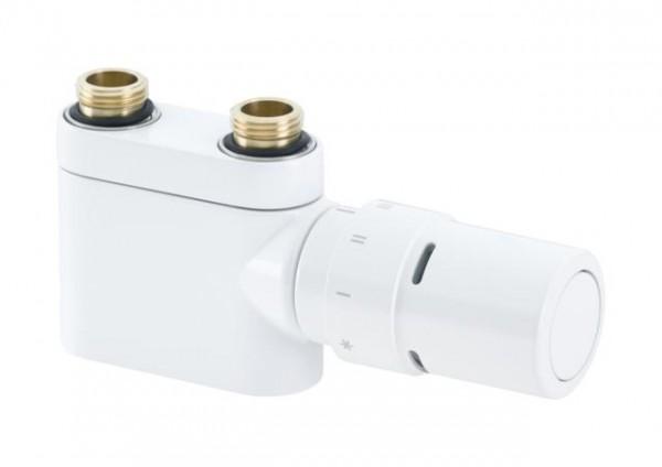 Ventilset VHX-DUO für Mittelanschluss in Weiß RAL9016