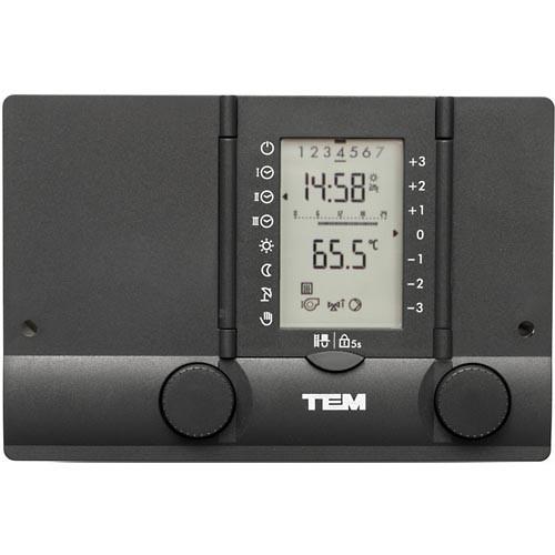 TEM Heizungsregler PM2975 MX-C/S - für Kessel-, 2 Mischer-, WW-Regelung,Solarfunktion, Zirkulation