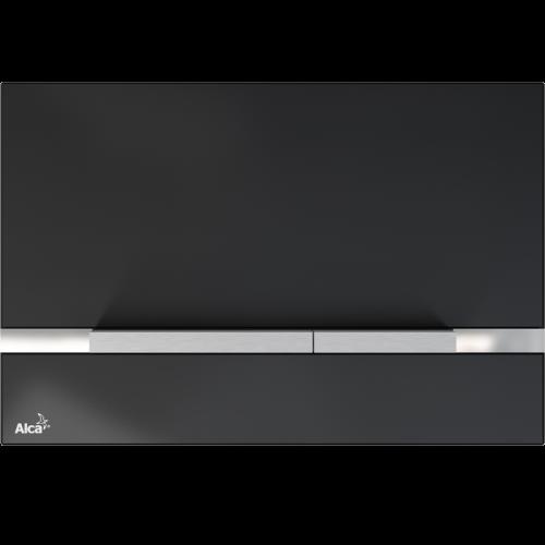 Alca Plast Betätigungsplatte STRIPE BLACK GLASS