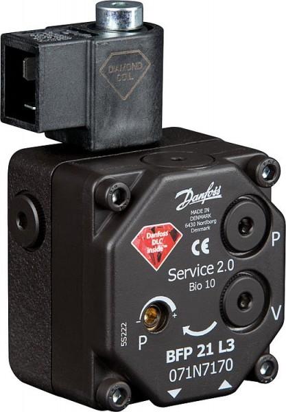 Danfoss Ölbrennerpumpe BFP 21 L3 Servicepumpe mit Magnetventil (071N7170)