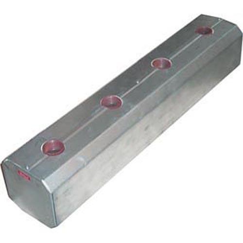 Heizungsverteiler aus Stahl 6/4'' für Leistungen bis 120 kW mit Isolierung