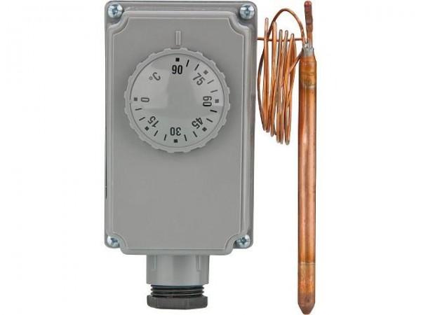 Kapillarrohr Tauchthermostat 0-90°C mit Aussenskala - Kapillarrohr 1000 x 6mm