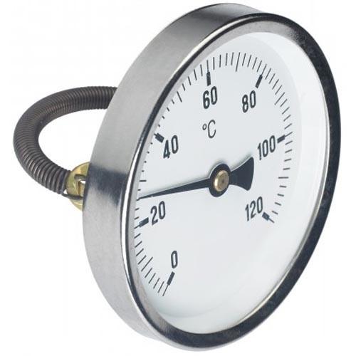 "Rohranlegethermometer 0-120°C, 3/8"" bis 6/4"""