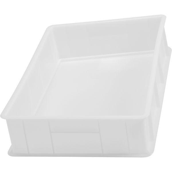 Stapelkiste Kunststoff - weiß - 600x400x130