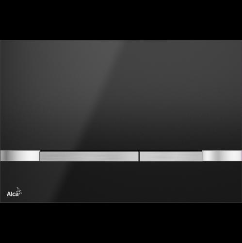 Alca Plast Betätigungsplatte STRIPE BLACK