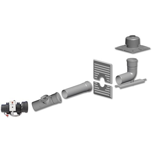 Intercal Kunststoff-Abgassystem Basis-Set DN80 - 125 zu Ecoheat Öl 15-25 kW (Raumluftunabhängig)